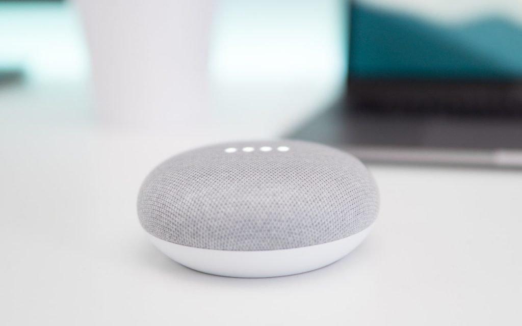 Google's Nest Mini Speaker, smart devices